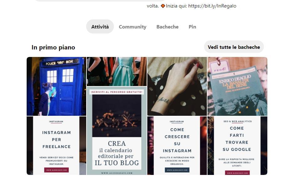 Pinterest Alessia Savi - In primo piano